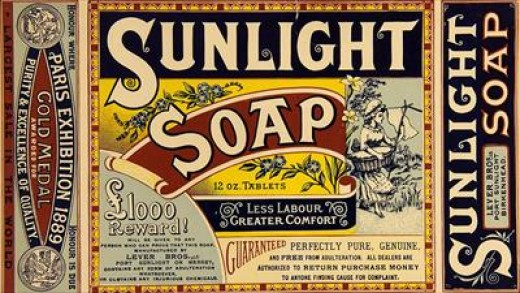 Production of soap, 19th century.
