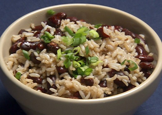 Rice and Beans are a staple in many Latin American and European cultures, and consist of, you guessed it, rice and beans.