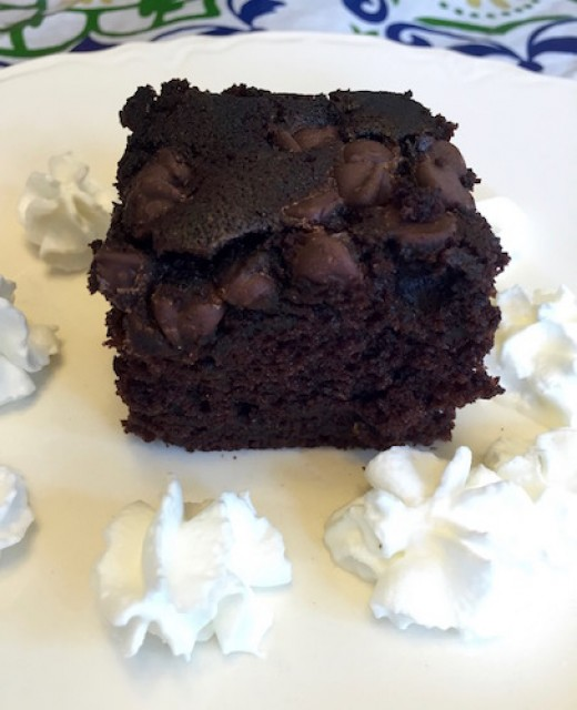 No on will guess that there are vegetables in this tender, chocolatey cake.