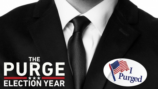 A film poster for The Purge: Election Year