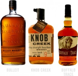 Bulleit, Knob Creek, Buffalo Trace