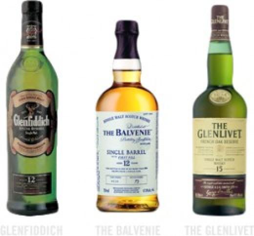 Glenfiddich, The Balvenie, The Glenlivet