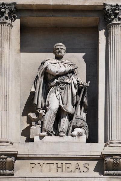 A statue of Pytheas, Explorer from Massilia