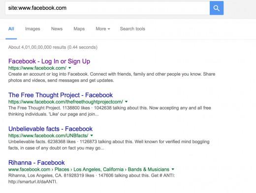 """Site String"" Example Screenshot"