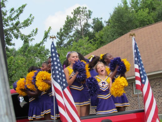 Mullins High Cheerleaders, were a part of the parade as well.