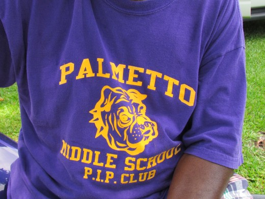 One of the T-Shirts for our old school Palmetto which is now a middle school in the city of Mullins.