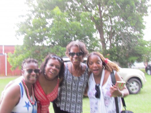 My nieces Sharon Smith and Joyce Platt along with their sister Wanda Faye, joined us for a quick interview and photo before leaving the park.