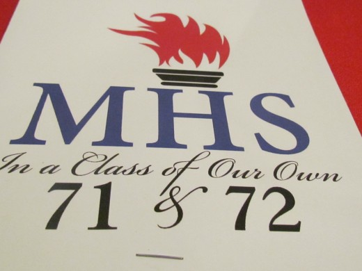 "The Mullins High School Class of 1971 & 72 T-Shirts that stated how they were, ""In A Class of Our Own."""
