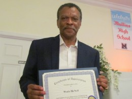Watis McNeil, received a certificate for his gallant service as photographer and organizer of this special event.