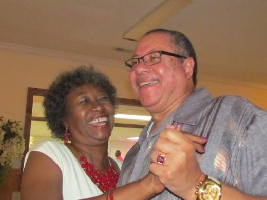 Howard Long and Carolyn Buie, enjoy a dance and some laughter.