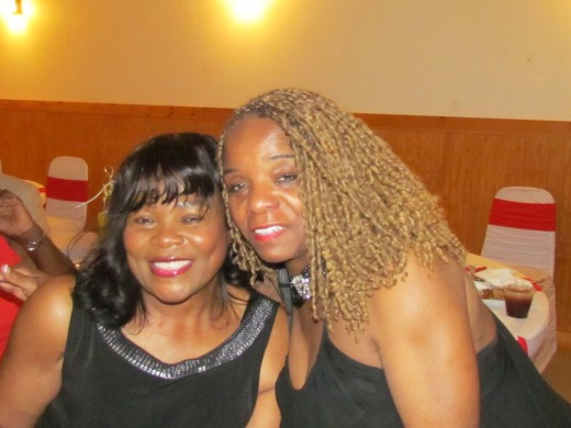 Paulette Blake and Geraldine, pose for a quick photo during this MHS reunion.