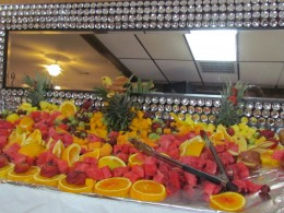 An amazing display of fruit salad was available for our eating pleasure.