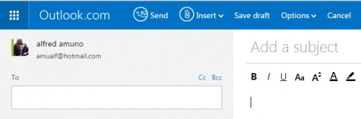 The new Outlook page
