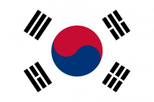Flag of South Korea.