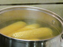 Fresh White corn was a part of our menu for dinner at the Ellerby's.