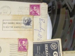 An old stamp collection and other memoirs from Randolph's youthful days in Mullins.