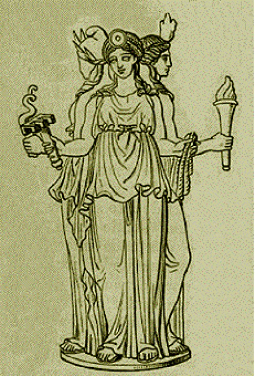 Hecate watches over us when we are at a crossroads in life, and helps us decide which way to go.