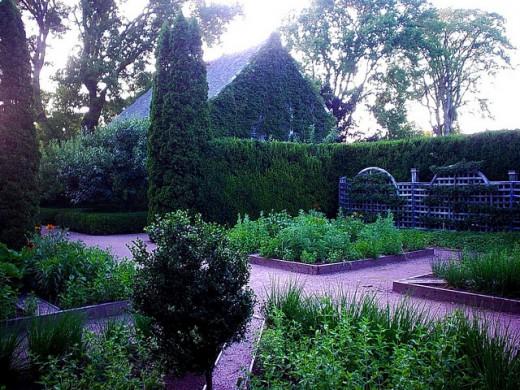A replica of an early garden in Nova Scotia.