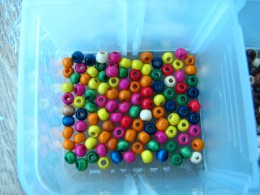 you can use any colored beads you find and like