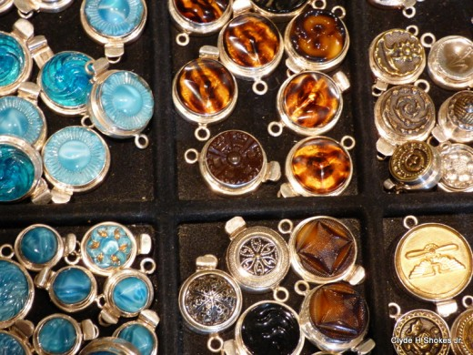 A Grain of Sand - their orignial vintage & antique clasps