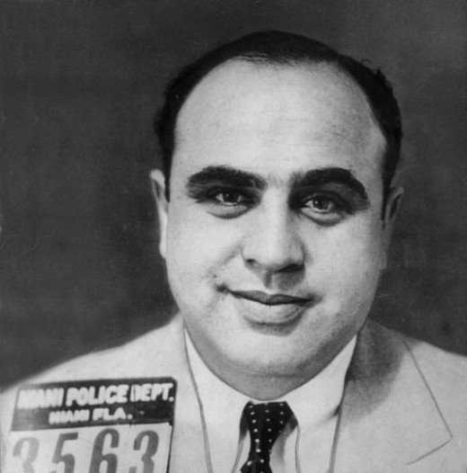 South Loop resident Al Capone in a 1925 mugshot.