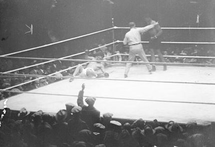 "More than 104,000 people attended the Dempsey-Tunney ""long count"" fight at Soldier Field on September 22, 1927"