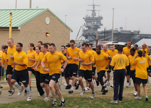 The Navy PRT includes a 1.5 mile run.