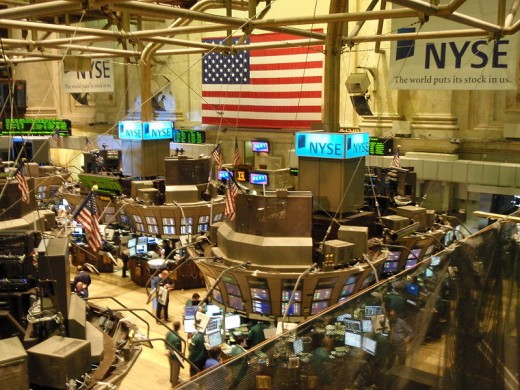 Trading on the floor of the New York Stock Exchange