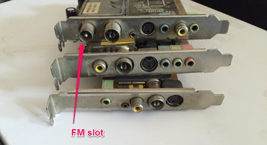 FM slot on the TV card