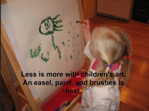 The creative process is relaxing, stimulating, and fun. Kids should want to do art.