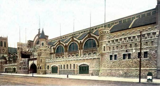 Chicago Coliseum was the site of six national political conventions, sporting events, concerts, and trade shows