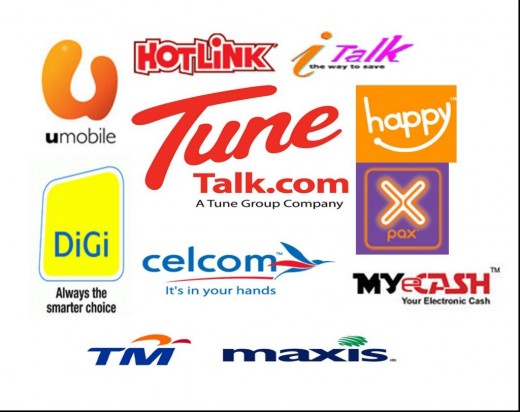 Some of Malaysian Telco Providers and their Prepaid Plans