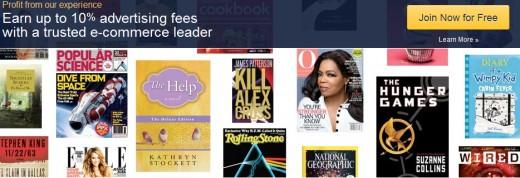 Amazon afffiliate homepage screenshot