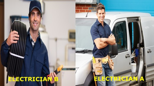 Comparing two business Owners (Electricians)
