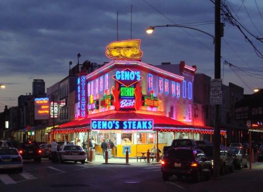 Geno's, one of two legendary Philadelphia sandwich shops