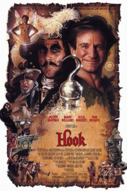 1991's Hook introduced us to a all grown up Peter Pan played by comic genius of Robin Williams.