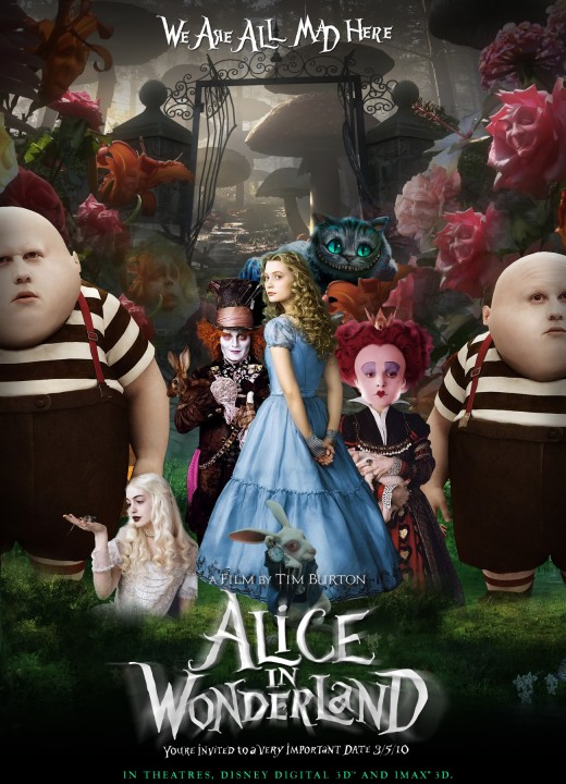 In this adaptation of the Lewis Carrol tale, the cgi is beautiful, awesome, and Depp does look like Madonna/Elijah Wood.  But can anyone really tell me what this movie is about?