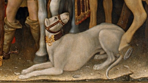Alaunt Dog By Gentile da Fabrano (1370-1427) Public Domain