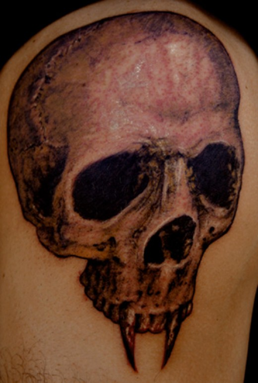 Vampire tattoos for Vampire skull tattoo