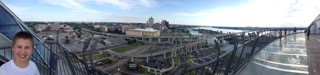 Caleb, Memphis and the Mississippi River in a panoramic view