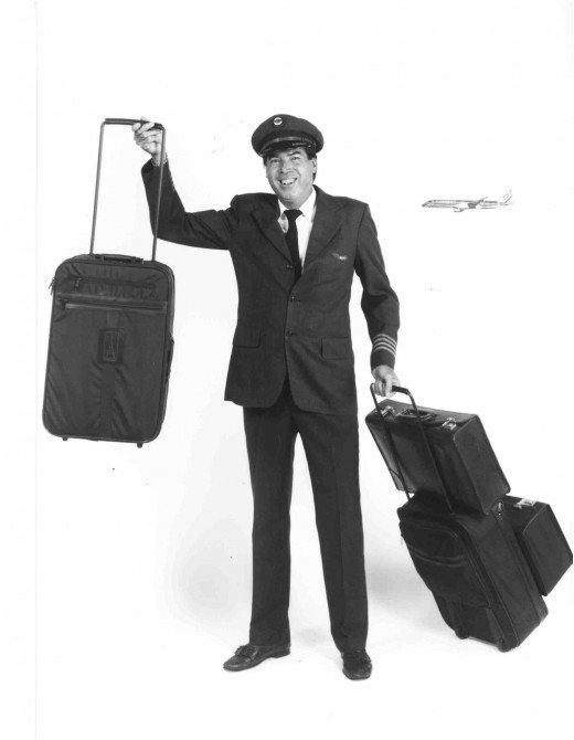 Bob Plath and the original wheeled suitcase