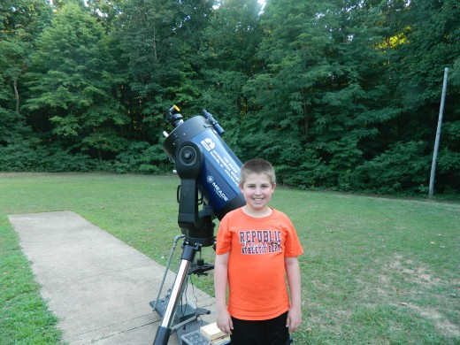 One of the telescopes available to view the stars and planets
