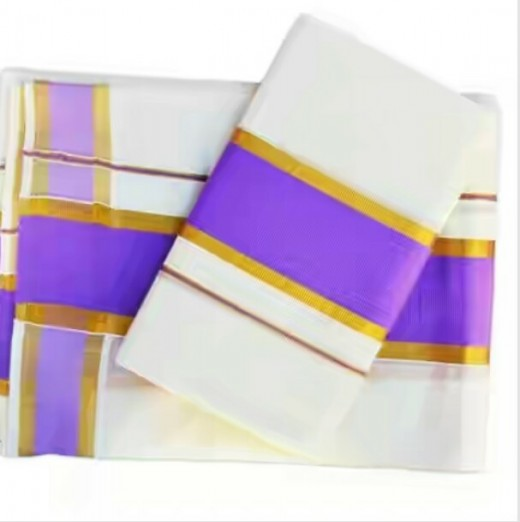 Mundum neriyathum with violet kara