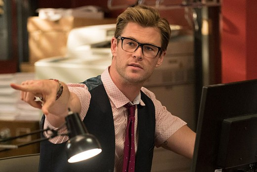Chris Hemsworth playing the receptionist Kevin. Easily steals the film for me.