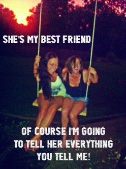 You Know You Are Best Friends For Life When.....