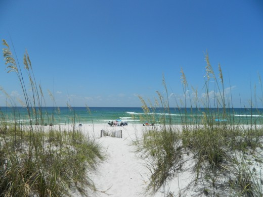 Our first view of the Gulf of Mexico