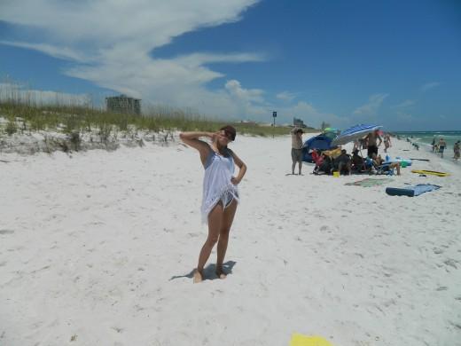 Bailey on the beach