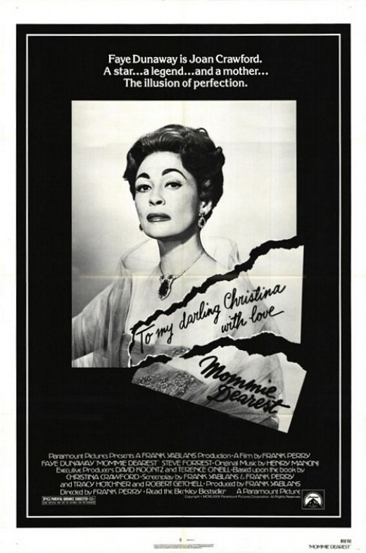 Theatrical poster for Mommie Dearest. Property of Paramount Pictures.