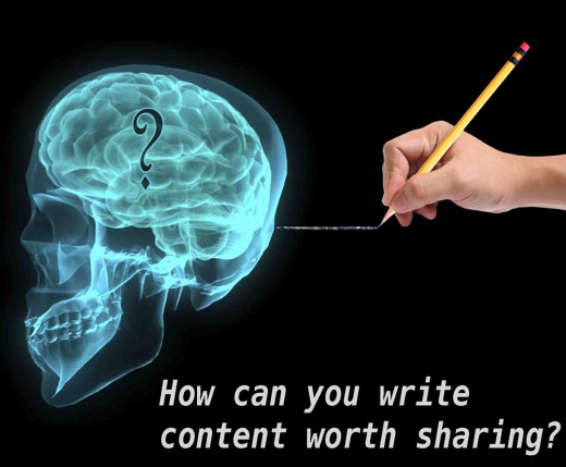 How can I write content worth sharing?