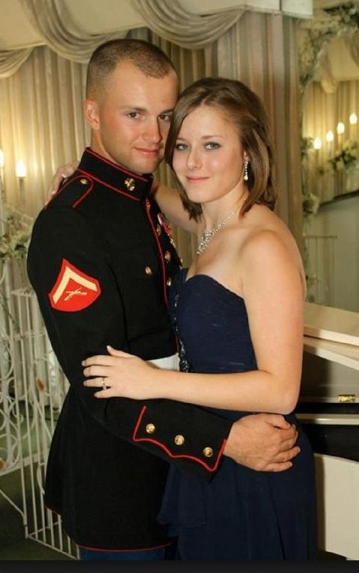 Erin and her high school sweetheart,and husband Jonathan Corwin.